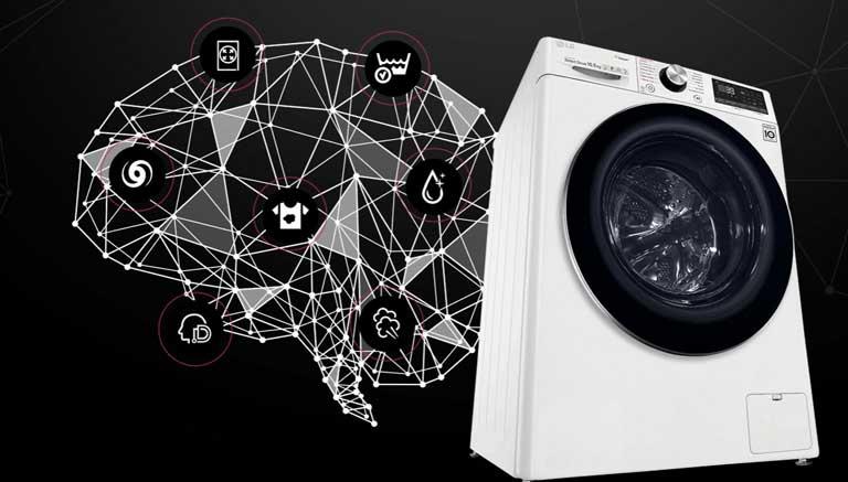 masina de spalat LG 2020 inteligenta cu AI DD